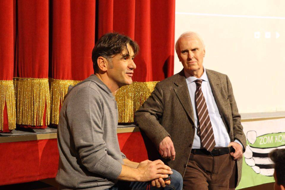 Il nuovo Presidente di Zom Kom Onlus, Domenico Pansini insieme al Presidente Onorario Guido Ghio